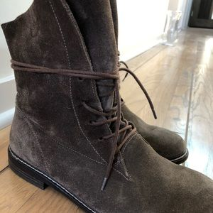 Paul Green Suede lace up boots